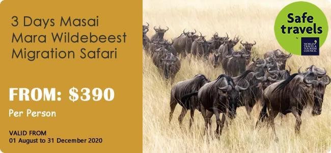 3-Day Masai Mara Wildebeest Migration Safari